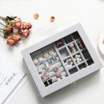 New Velvet Women Desk <b>Jewelry</b> Display Storage Box Portable Ring Necklace <b>Jewelry</b> Carrying Case Women <b>Jewelry</b> Storage <b>Supplies</b>