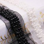 22 yards Artificial Pearl Beaded Lace Trim High Quality Costume Wedding Dress Belt <b>Jewelry</b> Design Handmade DIY Sewing <b>Supplies</b>