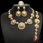 Yulaili Fashion Gold Plating Wholesale <b>Jewelry</b> Rarefied <b>Jewelry</b> Set