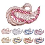 Luxury Elegant AAA Austrian cubic zirconia Swan Pendants Connectors For DIY Women Pearl <b>Jewelry</b> Findings&Components <b>Supplies</b>