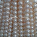 Natural Freshwater Pearl Bead Strands,10mm Potato Near Round Pearl Beads <b>Supply</b>,DIY Costum <b>Jewelry</b> Material Wholesale