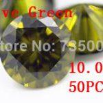 MRHUANG <b>Jewelry</b> <b>Supplies</b> AAA Grade CZ Cubic Zirconia Olive Green Round Zircon 10.0MM DIY <b>Jewelry</b> Findings <b>Supplies</b> Free Shipping