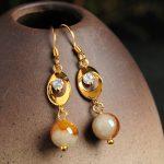 New Arrival 925 <b>Sterling</b> <b>Silver</b> Yellow Colour Beads Women's Dangle <b>Earrings</b>