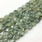 AA Quality Natural Green Hair Quartz Stone Beads Smooth Egg Oval Spacer 10-14 mm DIY <b>Jewelry</b> Making <b>Supplies</b> Rare Bead