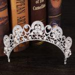 Wedding dress accessories Bride crown New crown headdress Princess crystal crown Bridal <b>jewelry</b> Wedding <b>supplies</b>