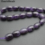 Wholesale 2 strands High Quality Natural Amethyst 13x18mm Drum Shape Stone Loose Beads <b>Jewelry</b> <b>Supplies</b>