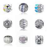 925 silver charms flower love heart hollow beads with colorful enamel and CZ fit original pandora bracelet diy <b>Jewelry</b> <b>supply</b>