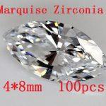Free shipping!High Quality !100pcs/pack Marquise Shape Zircon AAA Grade Cubic Zirconia 4*8MM DIY <b>Jewelry</b> Findings <b>Supplies</b>