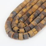 15.5 inches of strand Natural Yellow Tiger Eye in Heishi Disc Rondelle Shape Bead <b>Jewelry</b>,DIY Craft <b>Supplies</b>