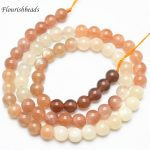High Quality 6mm~12mm Mix color Natural Moonstone Stone Round Loose Beads 6mm 8mm 10mm <b>Jewelry</b> making <b>supplies</b>