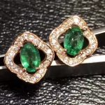 natural green emerald stud <b>earrings</b> 925 <b>silver</b> Natural green gemstone women happy fashion Clover stud <b>earrings</b> for anniversary