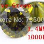 MRHUANG <b>Jewelry</b> <b>Supplies</b> AAA Grade CZ Cubic Zirconia Olive Green Round Zircon 1.4MM DIY <b>Jewelry</b> Findings <b>Supplies</b>