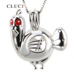 CLUCI Thanksgiving gift, sterling silver turkey Pearl Cage <b>Jewelry</b> Making <b>Supplies</b> Beads Cage Pendant For Oyster Pearl <b>Jewelry</b>