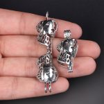 10pcs Silver Dog Head Pearl Cage <b>Jewelry</b> Making <b>Supplies</b> Bead Cage Pendant Essential Oil Diffuser For Pearl <b>Jewelry</b>