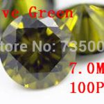 MRHUANG <b>Jewelry</b> <b>Supplies</b> AAA Grade CZ Cubic Zirconia Olive Green Round Zircon 7.0MM DIY <b>Jewelry</b> Findings <b>Supplies</b> Free Shipping