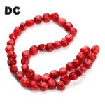DC 32pc/Strand 10-12mm Irregual Natural Red Coral Beads Loose Spacer Tube Beads for Necklace Bracelet <b>Jewelry</b> Making <b>Supplies</b>