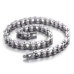 Manufacturers wholesale trend men titanium steel cycling chain fashion <b>necklace</b> bicycle chain stainless steel <b>jewelry</b>