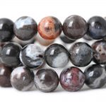 6-10mm Natural Black white zebra agat e stone Beads For <b>Jewelry</b> Making <b>supplies</b> DIY material for bracelets Necklace accessories