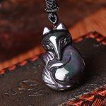 <b>supply</b> of natural counter genuine Obsidian rainbow eye fox money to help men and women love <b>jewelry</b> pendant transport