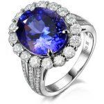 3 carat 925 <b>sterling</b> <b>silver</b> <b>ring</b> high-end sapphire tanzanite <b>ring</b> man made diamond wedding <b>ring</b> US size from 4.5 to 9