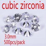 Wholesale <b>Jewelry</b> <b>Supplies</b> AAA Grade CZ Cubic Zirconia Round Zircon 3.0MM DIY <b>Jewelry</b> Findings <b>Supplies</b> Free Shipping