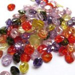 25%off–6mm 20pcs Muticolor Cubic Zirconia Beads, <b>Jewelry</b> Craft <b>Supplies</b> diamond round petal rainbow CZ <b>jewelry</b>