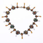 New Arrival Making <b>Supplies</b> Glass Antique <b>Jewelry</b> Fashion Women Gold Color Design Long Chunky Necklace