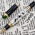 Jinhao Dragon King Vintage Rollerball Pen, Green <b>Jewelry</b> Metal Embossing , Noble Silver Color Business Office School <b>Supplies</b>