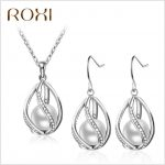 ROXI factory direct <b>supply</b> pearl earring / necklace suits female models hot models AliExpress spot
