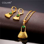 Collare Bilum Bag <b>Jewelry</b> Sets For Women Gold Color Papua New Guinea <b>Jewelry</b> Earrings Necklace Sets S239