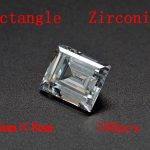 MRHUANG Shine! <b>Jewelry</b> <b>Supplies</b> AAA Brilliant Cuts 6*8mm Rectangle Shape Clear Color Cubic Zirconia Stone Beads For <b>Jewelry</b> Diy