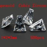 <b>Jewelry</b> <b>Supplies</b> 500pcs/pcak AAA Grade CZ Cubic Zirconia Trapeziod Zircon 1*2*3MM DIY <b>Jewelry</b> Findings <b>Supplies</b> Free Shipping