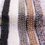 10 yards Artificial Pearl Beaded Lace Trim High Quality Costume Wedding Dress Belt <b>Jewelry</b> Design Handmade DIY Sewing <b>Supplies</b>