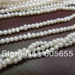 2mm Natural Fresh Water Pearl Round Oval Seed Loose Beads Fashion <b>jewelry</b> making <b>supplies</b>
