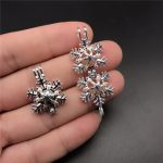 Christmas!! 10pcs Silver Snowflake Pearl Cage <b>Jewelry</b> Making <b>Supplies</b> Beads Cage Pendant Essential Oil Diffuser For Oyster Pearl