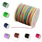 0.8mm Nylon Thread Cord Rope for <b>Jewelry</b> Necklace Bracelet Making DIY Findings Stringing <b>Supplies</b>, 0.8mm; about 90m/roll