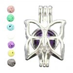 Butterfly Essential Oil Diffuser for Charms Pearl Cage <b>Jewelry</b> <b>Supplies</b> Locket Pendants