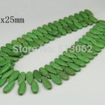 15.5 inches strand of Smooth Long Teardrop Green Howlite Beads, Loose Crackled Tur quoise Beads Making <b>Jewelry</b>, Craft <b>Supplies</b>