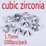 MRHUANG 1.75mm Cubic Zirconia Stone AAA Grade CZ Round Zircon Pedra de Zirconia DIY Beads <b>Supplies</b> for <b>jewelry</b> wholesale