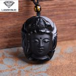 Collares Chrysocolla Natural Counter Genuine Obsidian Wholesale <b>Supply</b> Pendant <b>Jewelry</b> The First Male And Female Goddess China