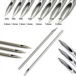 100pcs/pack Tri-Beveled Medical Grade Surgical Steel Body Piercing Needle Sterile Needles <b>Supply</b>