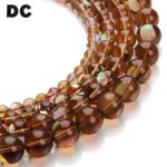 DC 1Strand/lot 6/8/10/12mm Round Clear Coffe Crystal Glass Beads Glow in The Dark Loose Spacer Beads for <b>Jewelry</b> Making <b>Supplies</b>