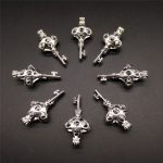 10pcs Bright Silver Hollow Key Pearl Cage <b>Jewelry</b> Making <b>Supplies</b> Alloy Beads Cage Pendant Essential Oil Diffuser Locket Gift