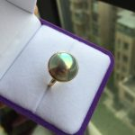 Women Gift word 925 <b>Sterling</b> <b>silver</b> real Long-lasting natural Japanese scallop, pearl <b>ring</b>, <b>Silver</b> Blue