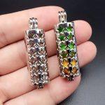 5pcs Dark Silver Hollowed Stars Cylinder <b>Jewelry</b> Making <b>Supplies</b> Pearl Beads Cage Pendant Essential Oil Diffuser Trendy Locket