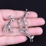 10pcs Silver Giraffe Pearl Cage <b>Jewelry</b> <b>Supplies</b> Colorful Bead Cage Pendant Essential Oil Diffuser For Pearl Jewellry