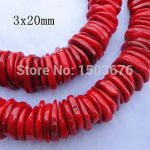 15.5 inches/strand of Natural Red Bamboo Coral Disc Heishi Beads Charms, Coral Beads <b>Jewelry</b> Necklace <b>Supplies</b>