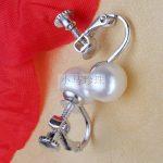 Eternal wedding Women Gift word 925 <b>Sterling</b> <b>silver</b> real The natural pearl ear <b>earrings</b> S925 <b>silver</b> fashion adjustable ligh