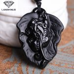 Natural Obsidian pendant <b>jewelry</b> counter genuine wholesale <b>supply</b> of male and female Obsidian brave overnight money Made China