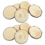 20 PCS 4-6cm Natural Wooden Slices Circle Pendant Connectors Ornaments for DIY Projects <b>Jewelry</b> Christmas Craft Making